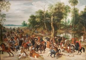 Себастьян Вранкс. Атака конного отряда