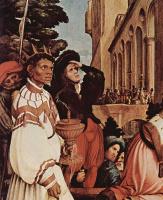 Ганс Гольбейн Младший. Алтарь Ганса Оберрида в кафедральном соборе Фрайбурга, левая створка: Поклонение волхвов, деталь: Волхвы
