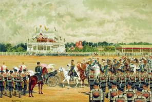 Иван Кузьмич Макаров. Прибытие государя на парад 15 мая 1883 года.
