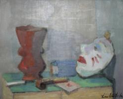 Осип Любич. Натюрморт с маской