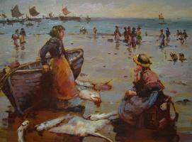 Виндфелдт. Женщина возле лодки