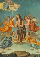 Лоренцо Ди Креди. Ангел приносит святое причастие для Марии Магдалины