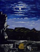 Нико Пиросмани (Пиросманашвили). Арсенальская гора ночью