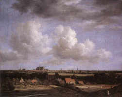 Якоб Исаакс ван Рейсдал. Пейзаж с видом Харлеме