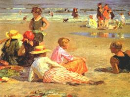 Эдвард Генри Поттаст. Жаркий день на пляже