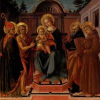 Франческо ди Стефано Пезеллино. Мадонна с младенцем в окружении святых