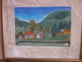"""Марианна Дмитриевна Солтук. Вид на горы из форелевого хозяйства""""Шипот"""""""