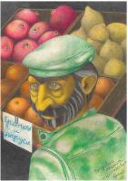 Konstantin Aleksandrovich Tokarev. The pomegranate seller