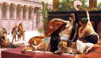 Alexandre Cabanel. Cleopatra testing poison on condemned prisoners
