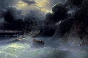 Ivan Aivazovsky. The coast of the Caucasus