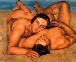 Хосе де Тогорес. Влюбленная пара на берегу