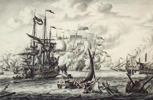 Адриан ван дер Салм. Морское сражение