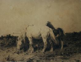 "Petr Petrovich Sokolov. ""Horses"""