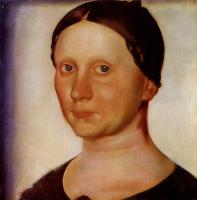 Василий Иванович Шухаев. Портрет Веры Федоровны Шухаевой. 1920