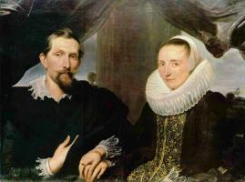 Антонис ван Дейк. Портрет Франса Снейдерса с женой
