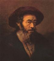 Рембрандт Ван Рейн. Мужчина в меховой шляпе