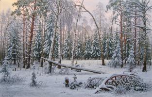 Alexander Vasilyevich Zoryukov. Snowy forest