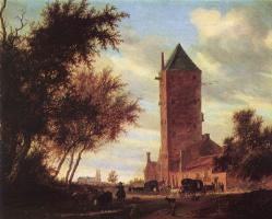 Саломон Якобс ван Рейсдал. Башня на дороге