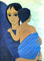 Маргарет Кин. Женщина с ребенком на руках