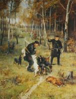 Илларион Михайлович Прянишников. Конец охоты. 1884
