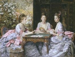 John Everett Millais. The trump card of hearts