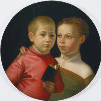 Sofonisba Angisola. Double portrait of a boy and a girl from the Attavanti family