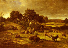 Charles Emile Jacques. The herd