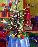 Габриель Мюнтер. Интерьер с рождественской елкой