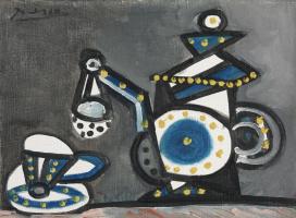 Пабло Пикассо. Натюрморт с чайником и чашкой