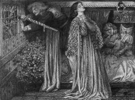 Данте Габриэль Россетти. Сэр Ланселот в камере Царицы