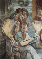 Петер фон Корнелиус. Фрески Каза Бартольди в Риме. Иосиф истолковывает сны фараона, деталь