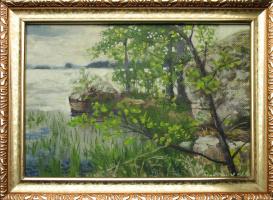 Александр Николаевич Безродных. Озеро.глыба.