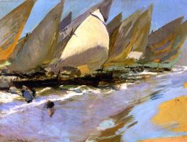Joaquin Sorolla. Fishing boats