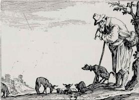 Жак Калло. Пастух, играющий на флейте