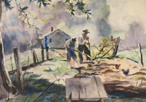 Andrew Wyeth. Уход за огородом