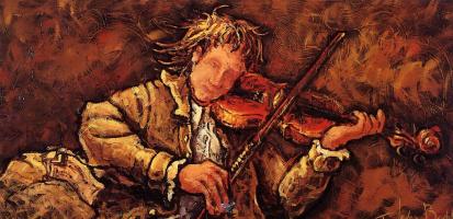 Клод Бонно. Молодой скрипач