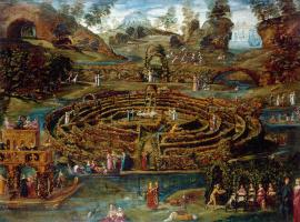 Ludovic Pozzosrato. The pleasure garden with a maze