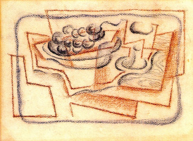 Хуан Грис. Тарелка с фруктами