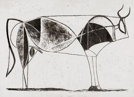Пабло Пикассо. Бык. Стадия 7
