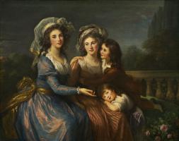 Элизабет Виже-Лебрен. Маркиза де Пезе и маркиза Руже с сыновьями Алексис и Адриен