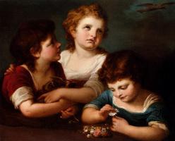 Ангелика Кауфман. Дети с птенцами и цветами