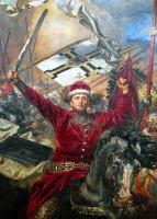 Ян Матейко. Битва при Грюнвальде. Фрагмент. Литовский великий князь Витаутас