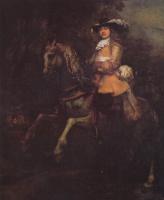 Рембрандт Ван Рейн. Конный портрет Фредерика Рила