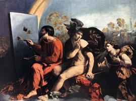 Доссо Досси. Юпитер, Меркурий и Добродетель