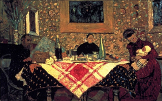 Jean Edouard Vuillard. Family dinner