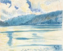 Cuno Amiè. Landscape with a lake Taner