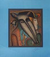 Михаил Шемякин. Из цикла «Маски». 1970-е  Цветная автолитография. Авторский отпечаток.