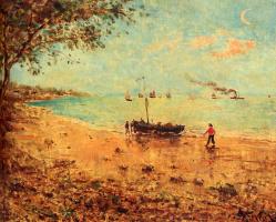 Alfred Stevens. Evening landscape