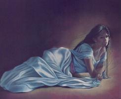 Пенни Энн Кросс. Лежащая девушка