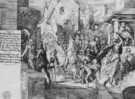 Julius Schnorr von Karolsfeld. The Emperor Charles and the leader of the Franks in Paris
